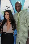 Lamar Odom and wife Khloe Kardashian  at the 2010 Teen Choice Awards - Arrivals, Gibson Amphitheater, Universal City, CA. 08-08-10