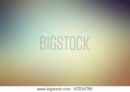 colorful sky after sunset, background color gradient from blue to orange poster