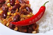 Tasty Food: Chili Con Carne And Rice Macro
