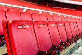 Players's seating at Arsenal Football club