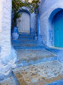 stock photo of entryway  - A decorative entryway in the blue - JPG