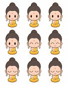 picture of buddhist  - Buddhist Monk cartoon illustration - JPG