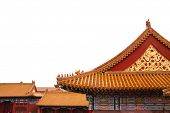Roof of a building in the Forbidden City, Beijing, China