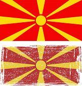 Macedonian grunge flag. Vector illustration