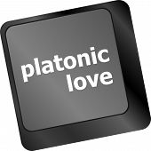 Modern Keyboard Key With Words Platonic Love