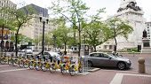 Bike Share Indianapolis With Monument