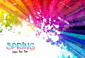 Spring Colorful Explosion of colors background for your party flyers, posters or brochure background
