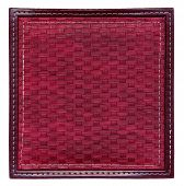 dark red wicker frame isolated