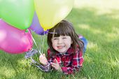 Little Girl With Balloons,