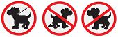 pic of dog poop  - Vector illustration of nice no dogs signs - JPG