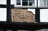 Timber framed building restoration.