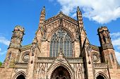 Front of Cathedral, Hereford.