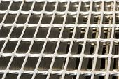 pic of grating  - galvanized grating ,beautiful close-up of a grating made of steel