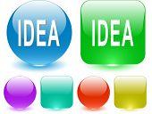 Idea. Interface element. Raster illustration.