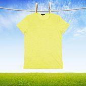 Washing Yellow Tshirt