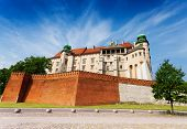 Wawel Royal Castle view in summer
