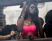Beauty  African Woman At Gay Pride Parade
