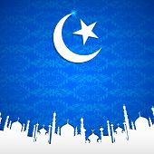pic of eid ka chand mubarak  - easy to edit vector illustration of Eid Mubarak  - JPG