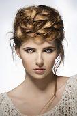Girl With Creative Cute Hairdo