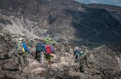 Descending To Barranco Camp, Kilimanjaro