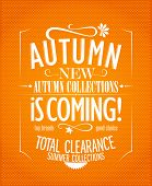 New autumn collections advertisement design.