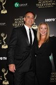 LOS ANGELES - JUN 22:  Jon Lindstrom, Cady McClain at the 2014 Daytime Emmy Awards Arrivals at the B
