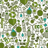 Ecology seamless pattern