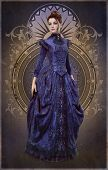 Purple Belle Epoque Gown, 3D Cg