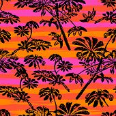 foto of florida-orange  - Vector seamless pattern with leaf - JPG