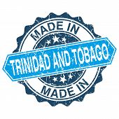 Made In Trinidad And Tobago Vintage Stamp Isolated On White Background