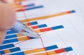 Businessman Analyzing Bargraph