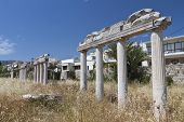 Kos island in Greece. Ancient gymnasium