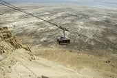 picture of masada  - funicular at the top of masada in israel - JPG