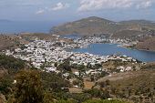 pic of revelation  - The Scala port at Patmos island in Greece - JPG