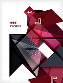 Hi-tech modern design template - futuristic modern straight geometric lines and shapes in glossy 3d style with shadows