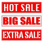 Big Sale, Hot Sale, Extra Sale Stamp