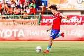 Sisaket Thailand-june 21: Joo Sung-hwan Of Singhtarua Fc. In Action During A Training Ahead Thai Pre