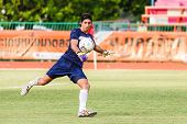 Sisaket Thailand-june 21: Lucas Daniel Of Sisaket Fc. In Action During A Training Ahead Thai Premier