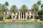 Picture of luxurious mansion by the seaside on star island, miami, home of the rich and famous.