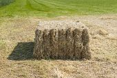 Bale Of Hay On A Sunny Day