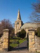 Open Gate To Churchyard