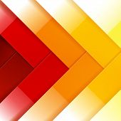 Abstract red, orange and yellow shiny rectangle shapes background