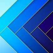 Abstract blue crossing rectangle shapes background