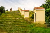 picture of calvary  - Small Church and Chapels in the Row on Calvary Nitra Slovakia - JPG