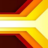 Abstract red, orange and yellow paper triangle shapes background