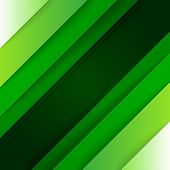 Abstract green paper triangle shapes background