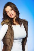 stock photo of plus size model  - Winter fashion - JPG