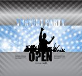 Party poster. Vector illustration