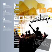 Music event illustration for poster. Vector