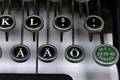 Foreign Letters On An Old Typewriter